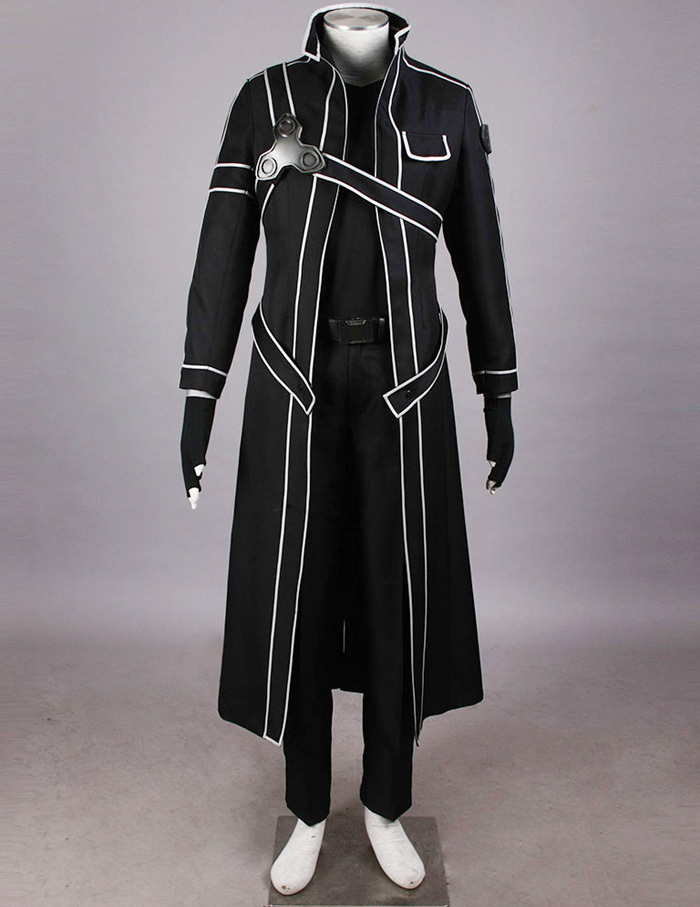 Top quanlity ! Sword Art Online Kirito Cosplay Costume Men halloween party - yuehong . Store store