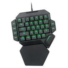 高 quility K50 有線 USB 片手コンピュータゲームキーボードマクロ定義メカニカル 7 色バックライトゲーミングキーボードキーパッド