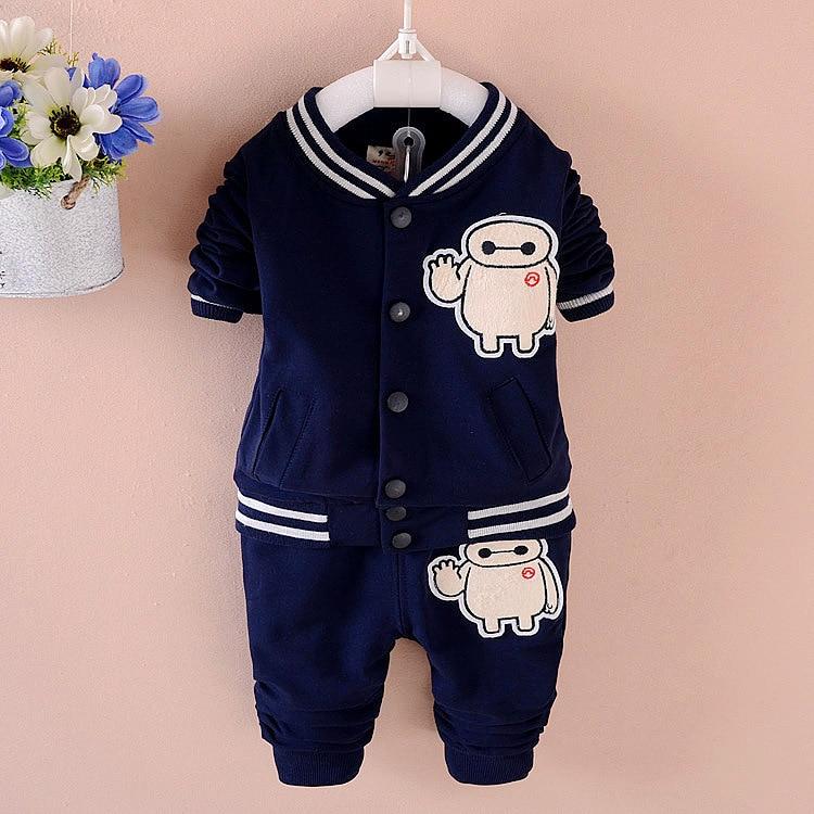 ФОТО New 2017 Spring Autumn Children Clothing Boys Cotton Baby Cardigan Kids Suit Sport Two-Piece Minnie Next Roupas Infantis Menino