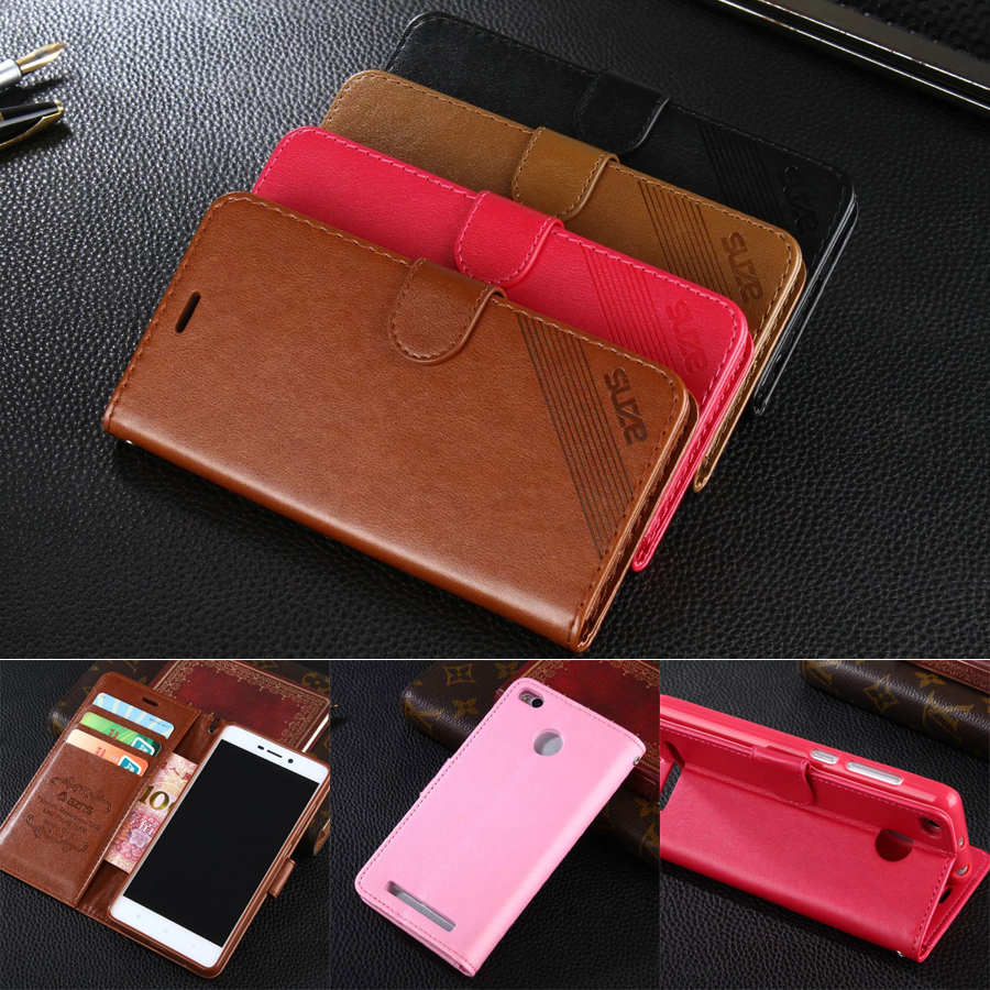 DIYABEI Case For Xiaomi Redmi 3 5.0 Wallet PU Leather Case Stand Flip Card Hold Phone Cover Bags For Xiaomi Hongmi 3 Red Rice 3