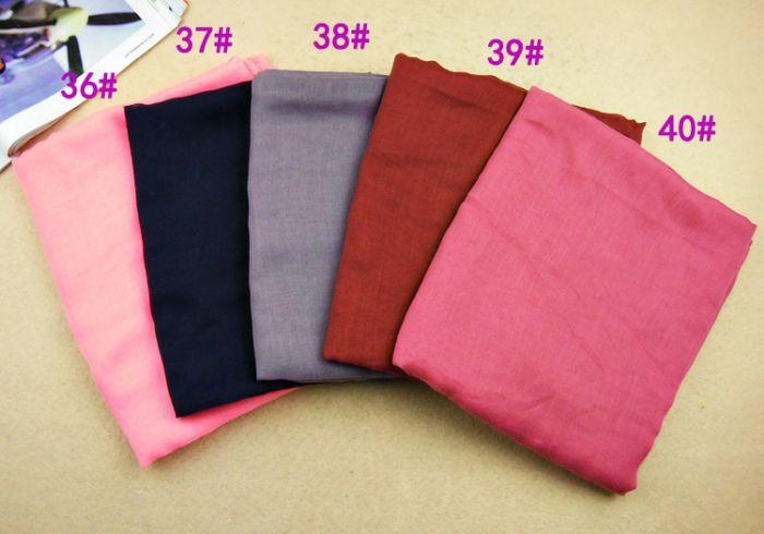Frauen printe einfache Schals Viskose 100% langes festes moslemisches - Bekleidungszubehör - Foto 5