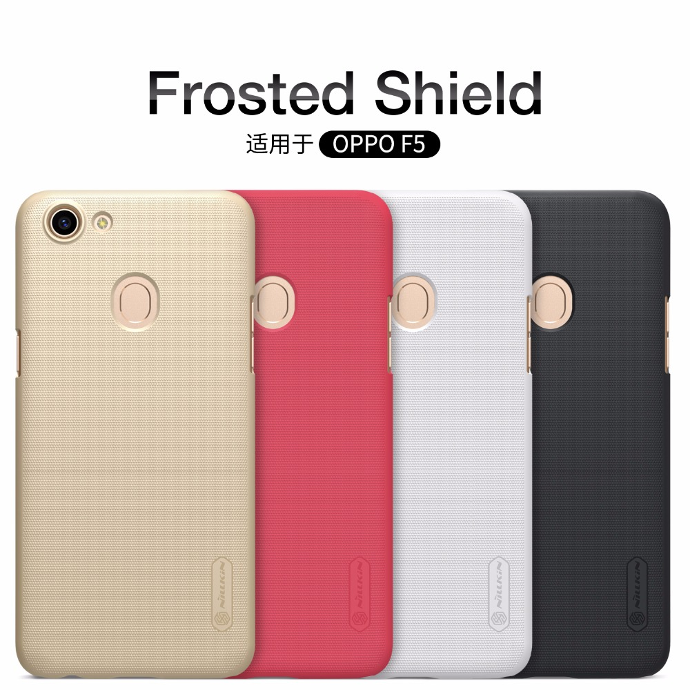 pretty nice bafc0 dbd6d US $7.57  OPPO F5 case OPPO F5 cover NILLKIN Super Frosted Shield hard back  cover for OPPO F5 with free screen protector-in Half-wrapped Case from ...