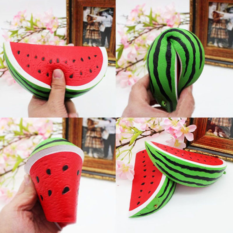 HOT SALE 1PC PU Squeeze Squishy Watermelon Fruit Slow Rising Simulation Stress Stretch Kids Toys
