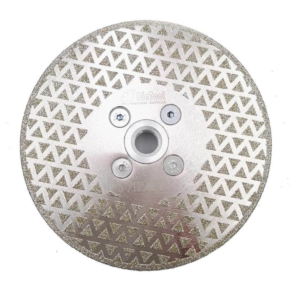 DIATOOL 125mm Electroplated Diamond Cutting And Grinding Disc For Granite & Marble With Double Grinding Sides цены