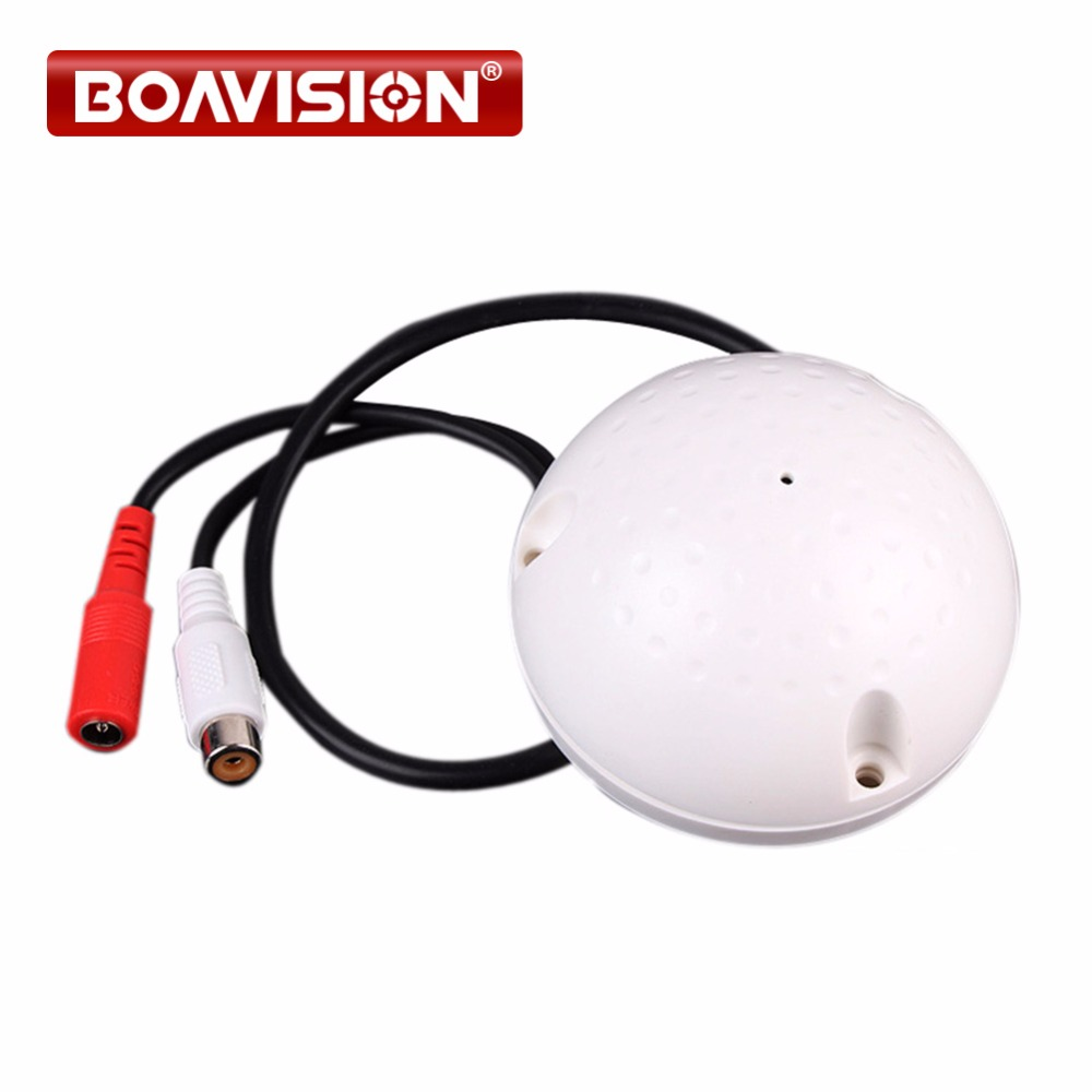 BOAVISION 100 Square Meters Mini CCTV Security Surveillance Microphone CCTV Audio Pickup Input цена