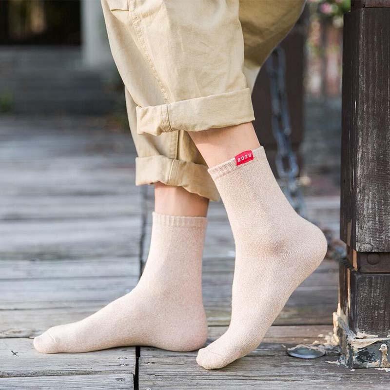Morematch Men Cotton Socks Special Winter Warm Socks High Quality Winter Men Harajuku Retro Warm Wool Socks in Men 39 s Socks from Underwear amp Sleepwears