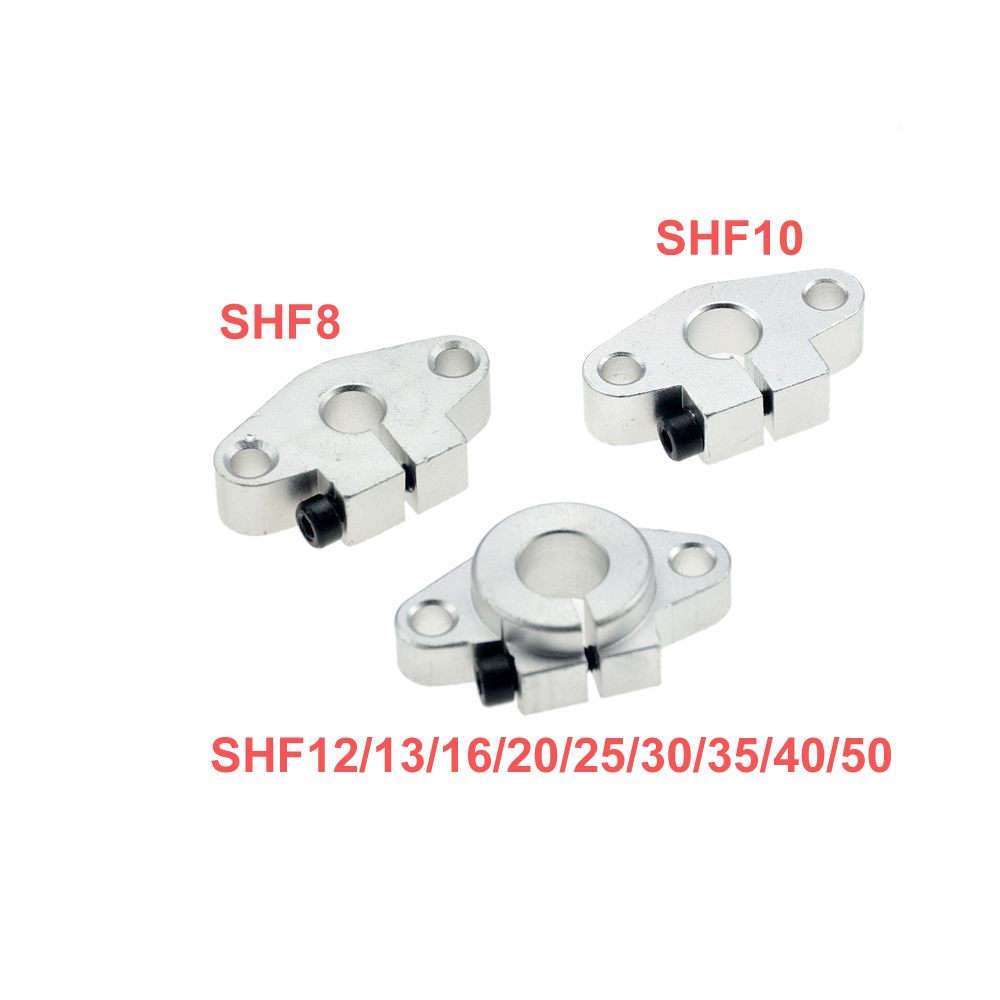 4pcs/lot SHF12 SHF8 SHF10 SHF35 SHF13 SHF16 SHF20 SHF25 SHF30 12mm Linear Rail Shaft Support XYZ Table CNC Router3D Printer Part