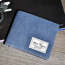 Wallet Man Canvas Credit Card Holder Men Business Casual Male Purse  Short Coin Pocket no Zipper fashion student wallet 225 new look minimalist men women wallet unisex male female coin purse pouch holder pocket simple casual designer short style canvas