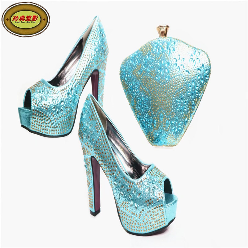 G40 Wonderful Style African Party Shoes And Bag Set  High Quality Women High Heel With Bag Sets Free Shipping 2016 spring and summer free shipping red new fashion design shoes african women print rt 3
