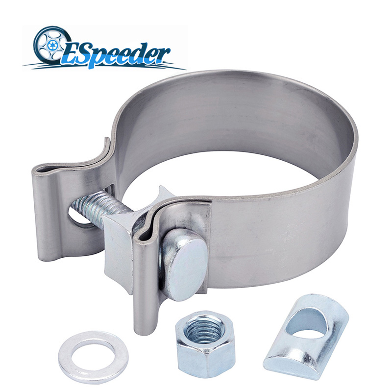 2 0 2 25 2 5 3 0 4 0 stainless exhaust lap joint exhaust band clamp exhaust sleeve butt joint clamp