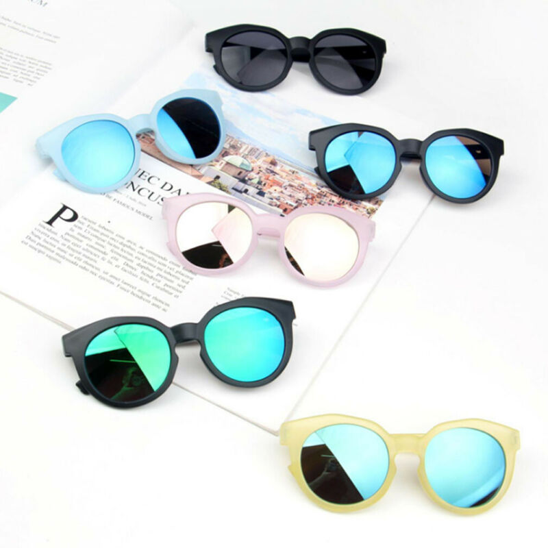 2019 Fashion Children's Boys Girls Sunglasses Shades Bright Lenses UV400 Protection Sunglasses Candy-colored Kid Beach Toys 2-8Y