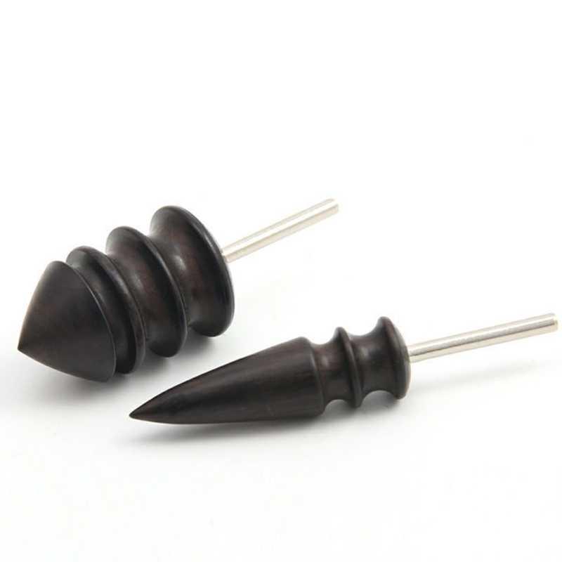 Кожа Инструмент край электрическая полировка Slicker плоская/заостренная головка сандалового дерева Кожа ремесло DIY Инструменты наконечник полировщик шлифовальный стержень