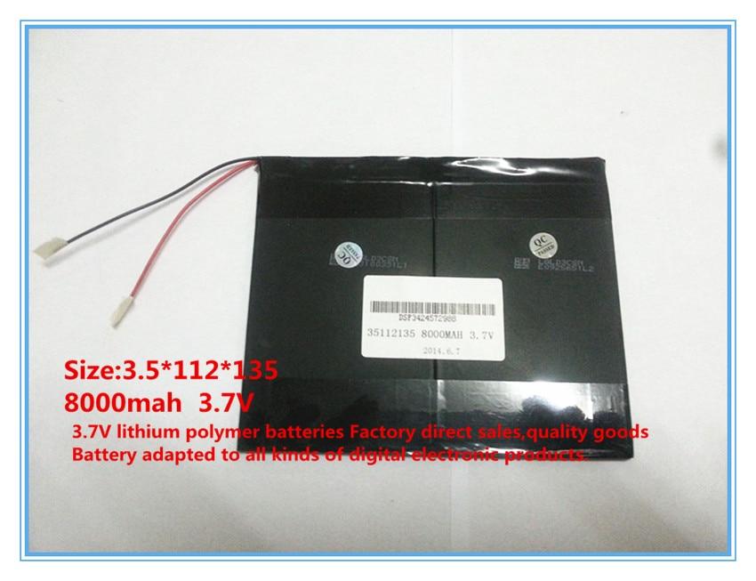 3.7 V, 8000 mAh, polimer lityum iyon / tablet pc için Li-ion pil, - Tablet Aksesuarları - Fotoğraf 5