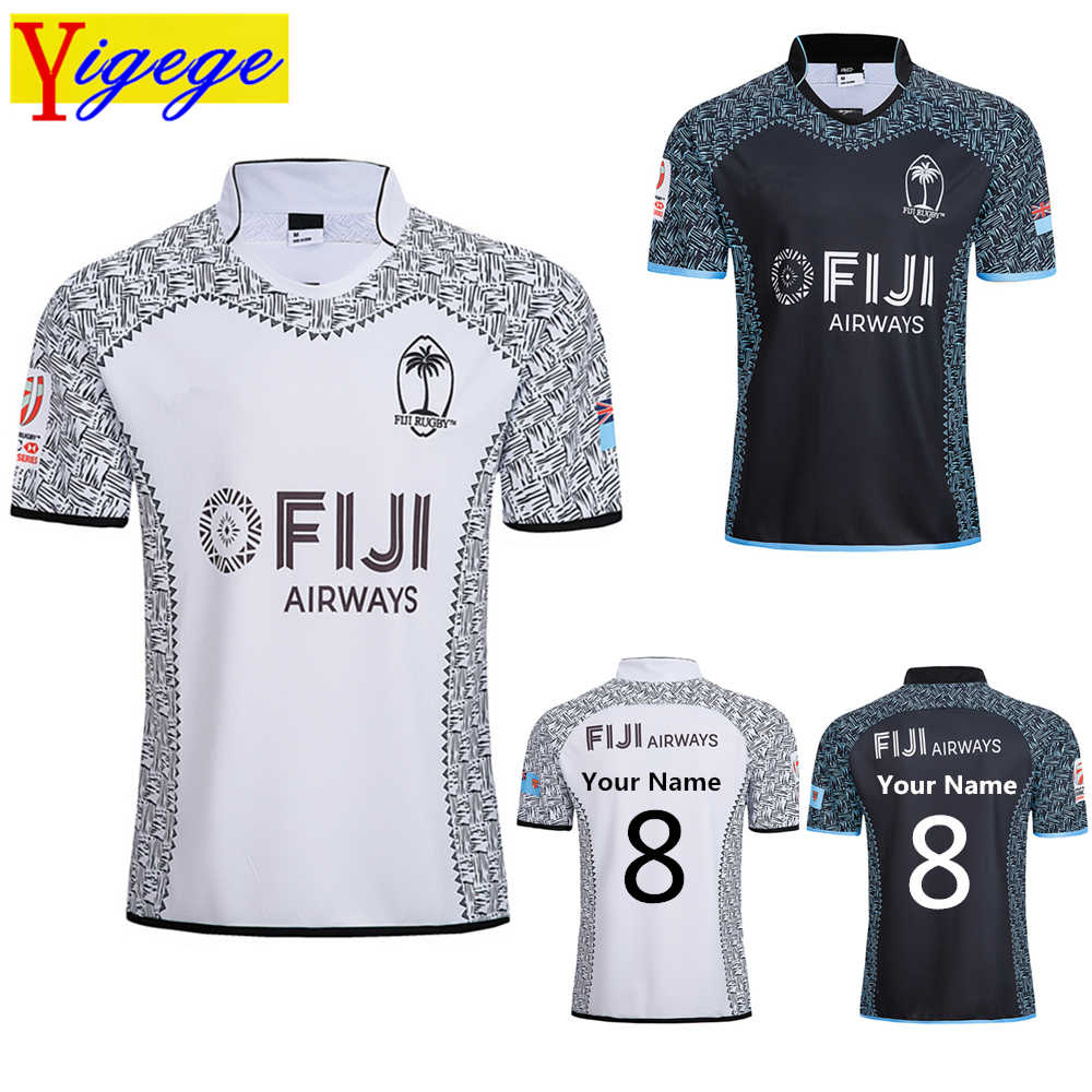 5e3578d1828f0 Custom names and numbers Best Quality 2019 FIJI Home and away rugby Jerseys  Singlet Rugby League