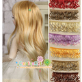 15cm curly doll wigs 1/3 1/4 1/6 BJD Doll hair /  natrual brunettes blondes color pink color heat resistant hair for bjd doll