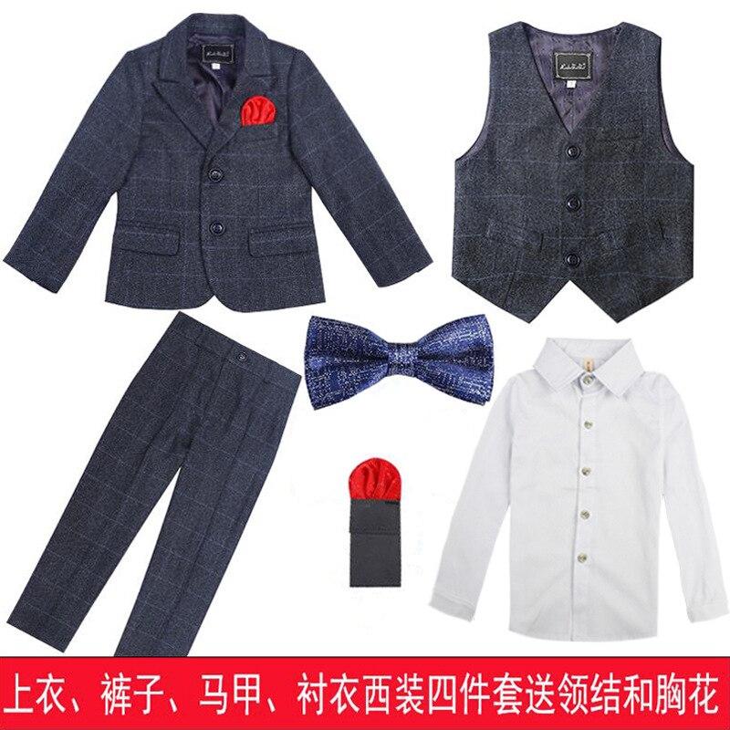 Boys suits for weddings costume blazer British style boy formal wedding suit jacket boy birthday suit dress H477