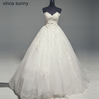 Vinca Sunny 2018 New Arrive Luxury Chapel Train Ball Gown Wedding Dress Gorgeous Vestido De Noiva