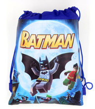 1pcs/lot Lego Batman Non-Woven Fabric Drawstring Gits Bags Backpack Baby Shower Birthday Party Decoration Kids Favors Supplies(China)