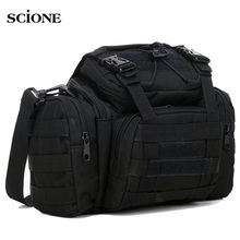Military Tactical Waist Bag Molle Sports Shoulder Bag Waterproof Oxford Camping Travel Hiking Trekking Camouflage Bags XA739WA