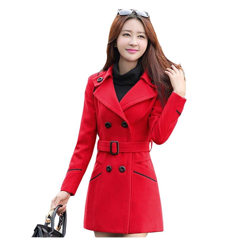 Drehen-unten Kragen Reine Farbe Frauen Woolen Jacke 2019 Neue Oberbekleidung Herbst Winter Freizeit Frauen Woolen Jacke M-xxxl Ses395