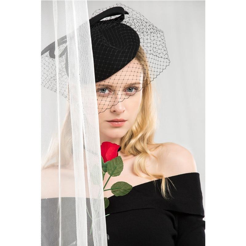 7f1e2e3c2 FS Fascinators 100% Wool Felt Cocktail Hat For Women Elegant Pink Ladies  Wedding Dress Tea Party Pillbox Wool Pillbox Fedoras