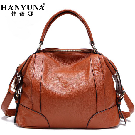 HANYUNA BRAND 2017 New Fashion Cow font b Leather b font Women font b Handbags b