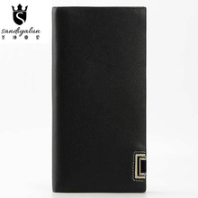 Famous Brand Business Real Leather Men Wallets Birthday Gift Wallets for Men Dad Gift Bags Genuine