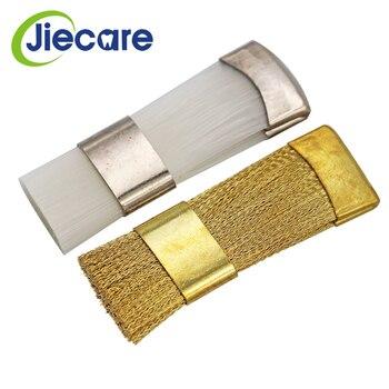1 PC Dental Material Copper Flat Brush For Clean Burs Copper Brush/ White Nylon Brush For Choose