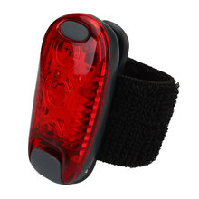 Mountain Bike Tail Light Bicycle Taillights Cycling Running Helmet Backpack Safety Warning Light