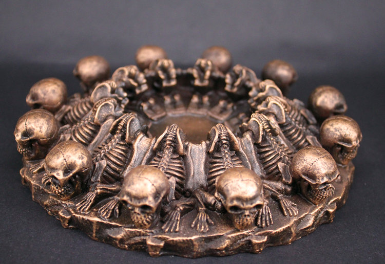 popular skeleton ashtray-buy cheap skeleton ashtray lots from, Skeleton