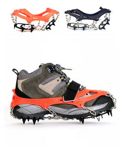 Image 5 - M/L גודל מלקחי 12 שיניים חיצוני העפלה טיולים נוגד החלקת קרח שלג נעל קוצים מלקחי נעלי Skidproof גבוהה באיכות
