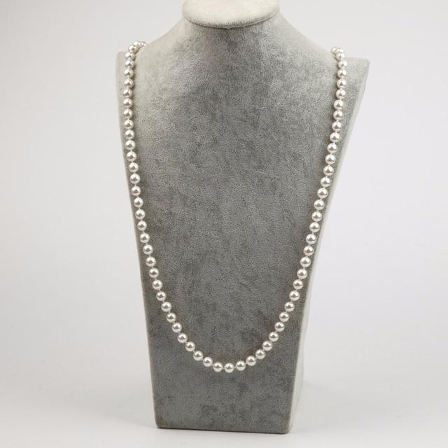 Nova Moda Chegada Rodada Shell Beads Colar Shell Beads Colar Longo Das Senhoras Das Mulheres da Festa de Casamento Moda Jóias