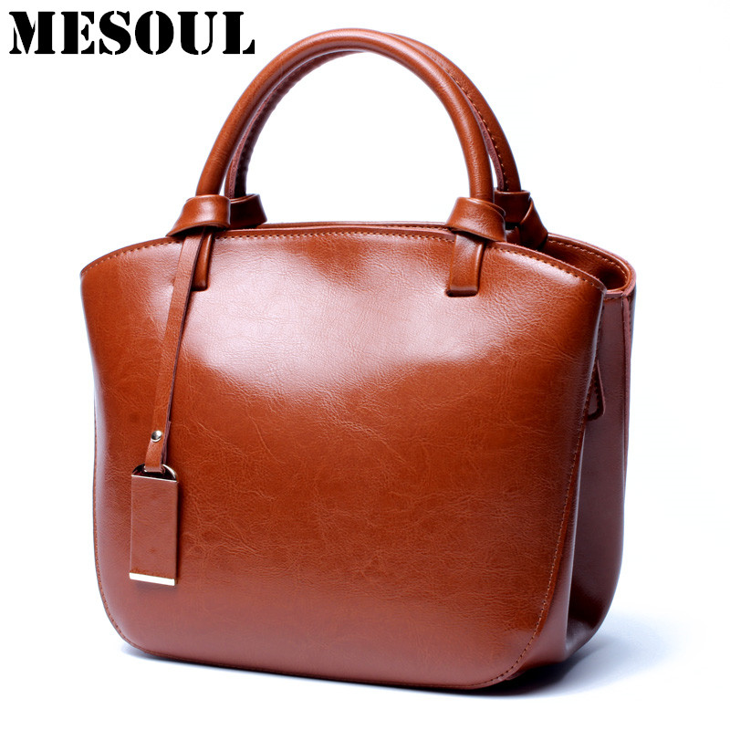 MESOUL Bags Handbags Women Famous Brands Designer Shoulder Bags Genuine Leather New Arrivals Female Crossbody Bag Bolsos Mujer 2018 fashion smiley face trapeze genuine leather luxury handbags women famous brands bags designer bolsos mujer tote bag female