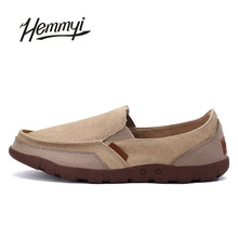 Hemmyi 2017 New Arrival Old Beijing Cloth Shoes Slip-on Loafers Casual of Men Shoes Classic Pure Color Male Canvas Shoes