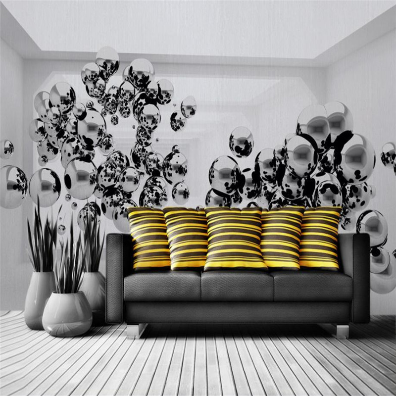 custom 3d high quality wallpaper modern large stereo living room bedroom sofa TV background wall mural metal droplets wallpaper free shipping 3d wall painting sofa wallpaper living room tv background wallpaper grassland wallpaper mural