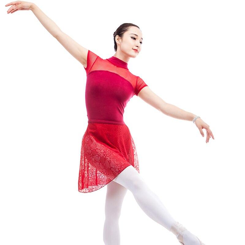 17dd400630879 US $19.6  Neue Kurzarm Rollkragen Mesh Splice Tanz Body Erwachsene Mädchen  Frauen Gymnastik/Ballett Tanzen Trikot Sexy Schwarz in Neue Kurzarm ...