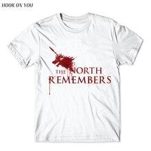 Camiseta Homme 2017 Nuevo Juego de tronos T camisa de los hombres bien el Norte recuerda sangre Lobo camiseta, camiseta de los hombres camisas para Hombre