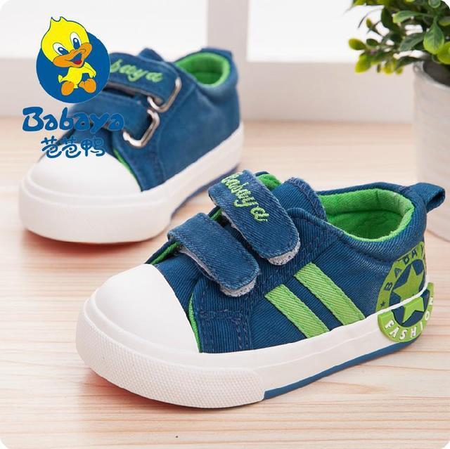 2015 marca nueva estrella de la raya ocasional Otoño lona de algodón suave bebé niños primeros caminante toddle infantil sneakers casual shoes