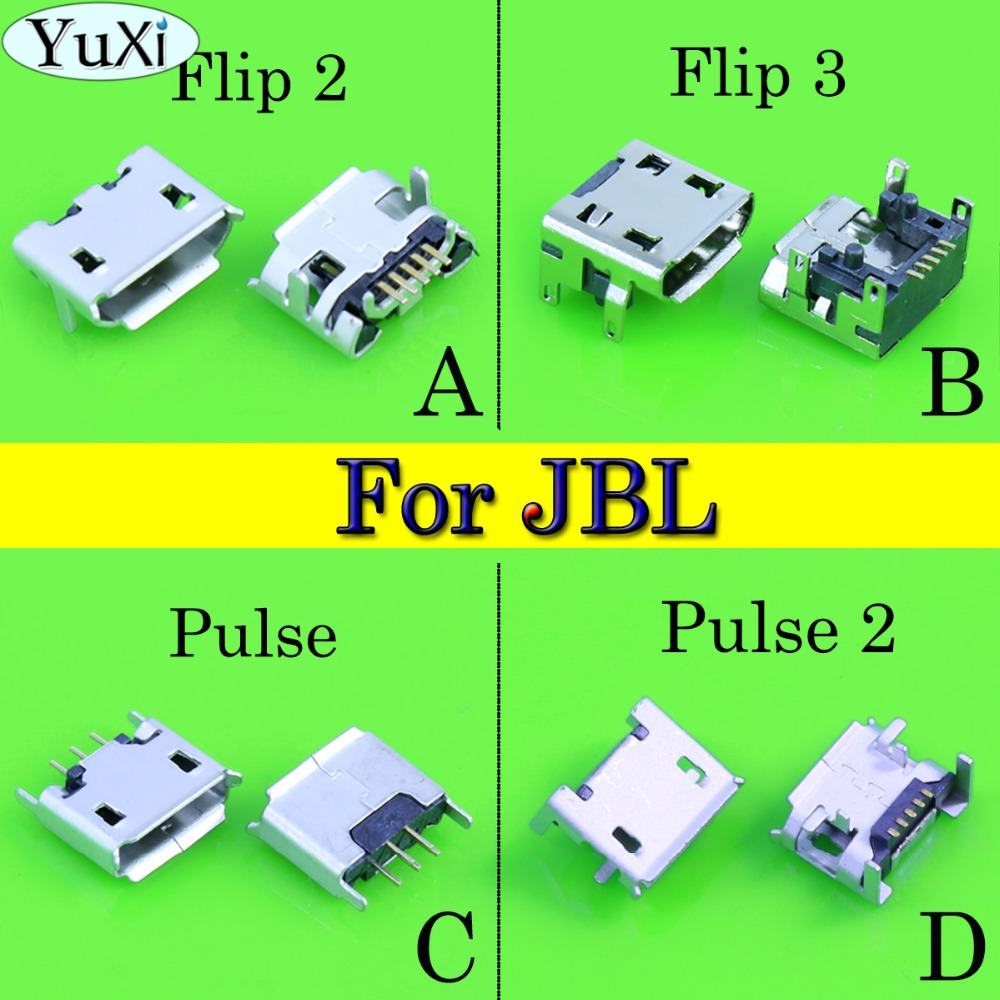 YuCi 4pcs/lot For <font><b>JBL</b></font> FLIP 3 <font><b>2</b></font> Pulse <font><b>2</b></font> Bluetooth <font><b>Speaker</b></font> Micro USB <font><b>Charging</b></font> Port Charger Connector image