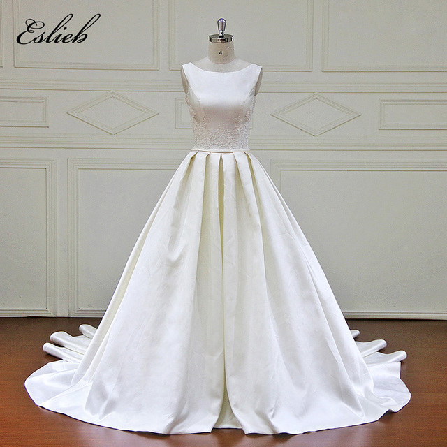 Eslieb Vestido De Noivas Elegant Wedding dress 2018 Simple Dress ...