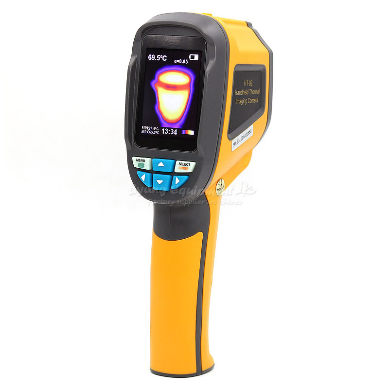 Hand-held type Thermal Imager IRHT02  Thermometer Infrared Thermal Camera FLIR Sensor Take photos 4G storage Q10122 freeshipping flir c2 c3 wi fi all new original infrared thermal imager ir camera heat sensor flir c2 c3