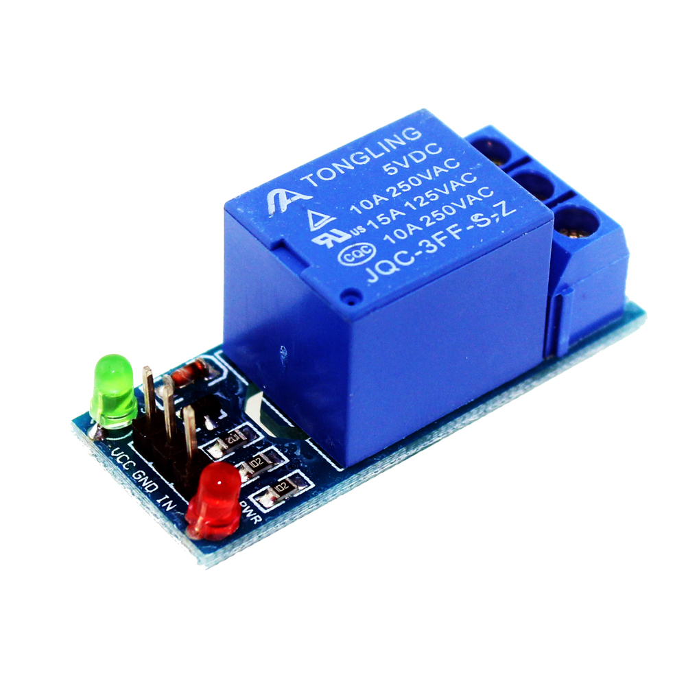 Smart Electronics 10pcs 5v 1 Channel Relay Module Low Level For Scm  Household Appliance Control For