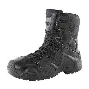 Image 2 - Botas tácticas militares para hombre, zapatos de senderismo impermeables para exteriores, zapatillas antideslizantes, calzado deportivo para escalada