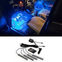 Interior Remote Voice Control Car LED Neon Lamp For Ford Focus 2 3 Fiesta Kuga Mondeo
