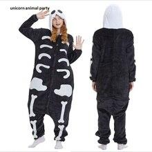 Kigurumi Unisex Adult Animal Skeleton Skull Onesie Pajamas Cosplay Costume Sleepwear halloween costumes pajamas