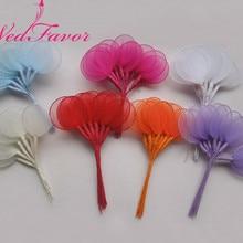 WedFavor 100 шт 4 см диаметр. Свадебные держатели для миндаля, бутоньерки, аксессуары, ветви ракчетти, сделай сам, цветы для корсажа