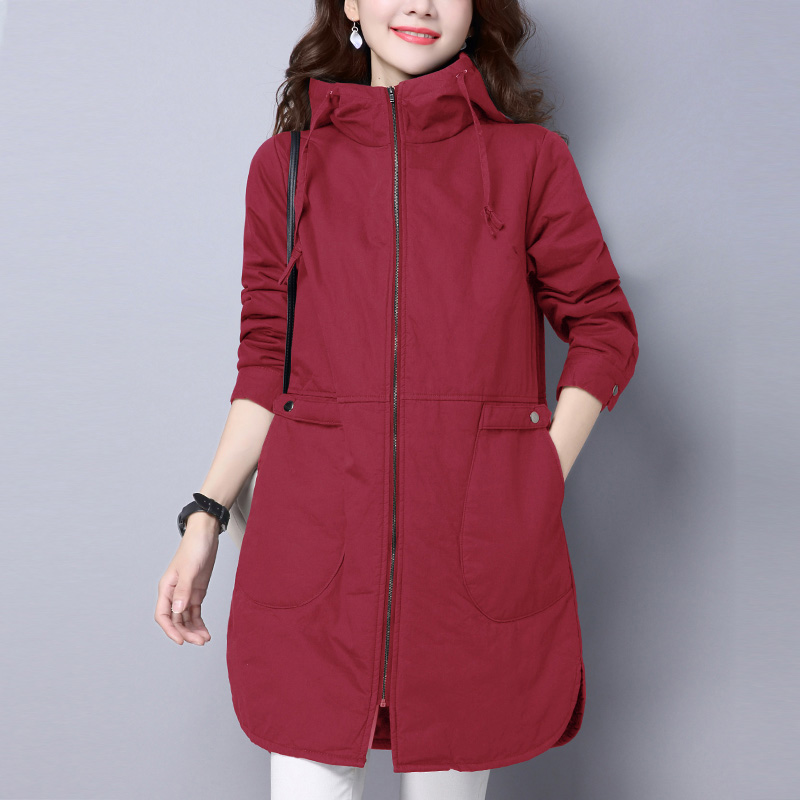 2018 Winter Jacket women Plus Size Womens Parkas Thicken Outerwear solid hooded Coats Long Female Slim Cotton padded basic tops цена