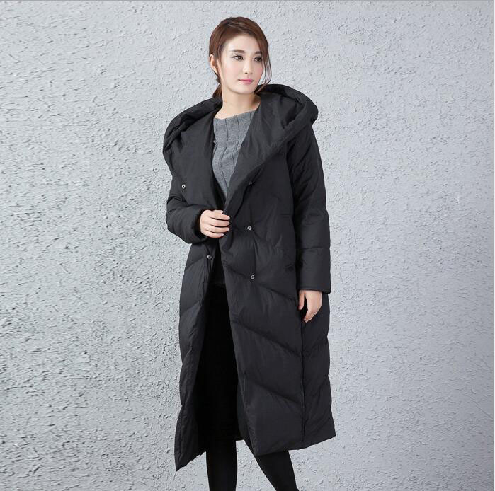 Large Collar Long   Down     Coat   Jacket Winter   Coat   Thick   Down     Coat   Personality Design Very Warm Plus Size