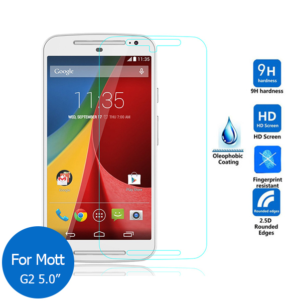 High Quality 0.26mm 9H Tempered Glass For Motorola Moto E E2 G G2 G3 X G4 G4 plus Screen Protector Film For Moto X Style X Play
