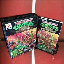 Черепахи возврата Шредер Япония крышка с коробкой и руководством для Sega megadrive бытие Игровые приставки 16 бит md карты